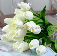 12 pieces/lot, Artificial flower high quality real touch PU Tulip desktop wedding home decoration gift multi-color