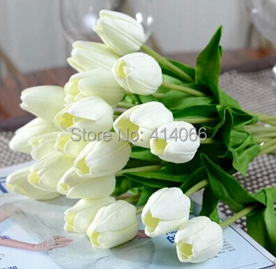 12 pieces/lot, Artificial flower high quality real touch PU Tulip desktop wedding home decoration gift multi-color(China (Mainland))