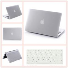2in1 Clear Matte Rubberized Hard Case Cover(11 colors)+Keyboard Cover For Apple Macbook Air 11 11.6 inch Free Shipping