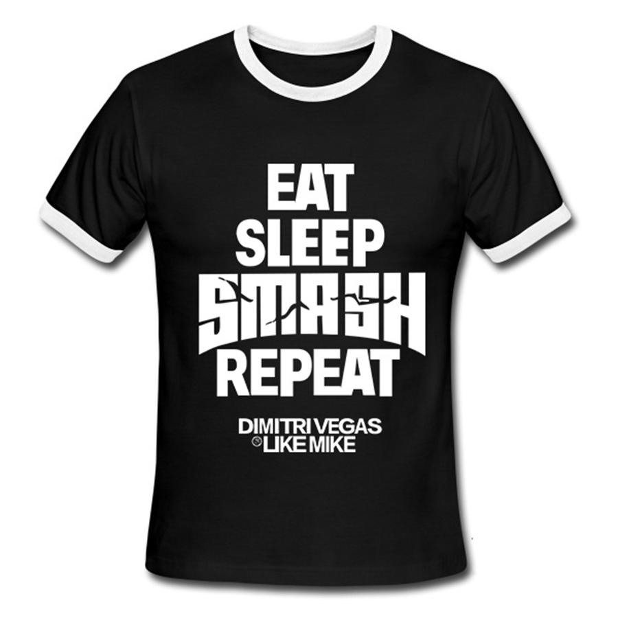 Men Summer Hot T Shirts Eat Sleep Rave Repeat Tshirts Short Sleeve Casual Cotton O Neck T-shirt Man Clothing(China (Mainland))