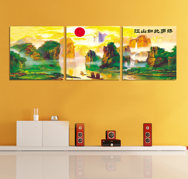 Ya-hing land so paintings frameless painting decorative painting modern living room home office mural backdrop<br><br>Aliexpress