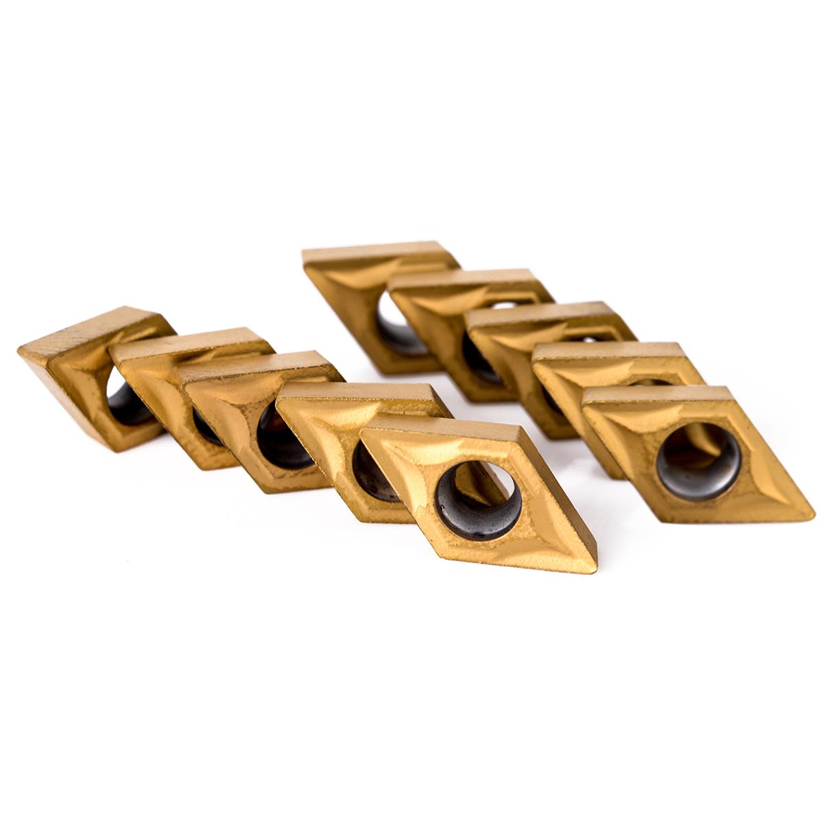 10pcs DCMT070204 Carbide Insert + 4pcs 12mm Boring Bar Tool Holder + 4pcs Wrench For Lathe Turning Tool