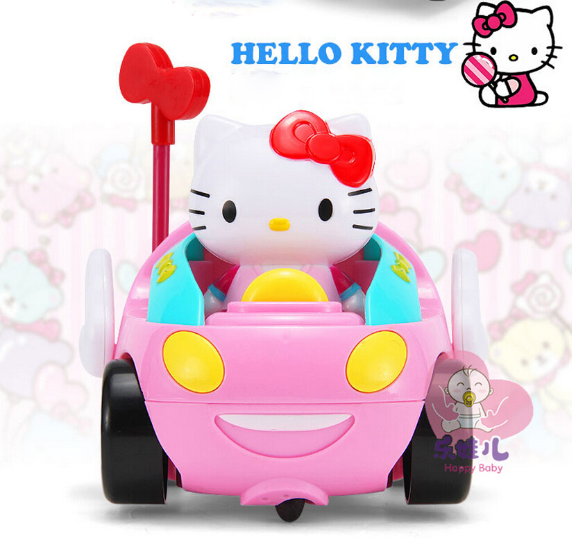 Hello Kitty Toy Car For Girls : Cartoon children rc toy hello kitty kt cat remote control