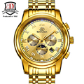 2016 new Large Dial Mechanical Watch Date Display Famous Top Brand Gold Royal Men Automatic Watches