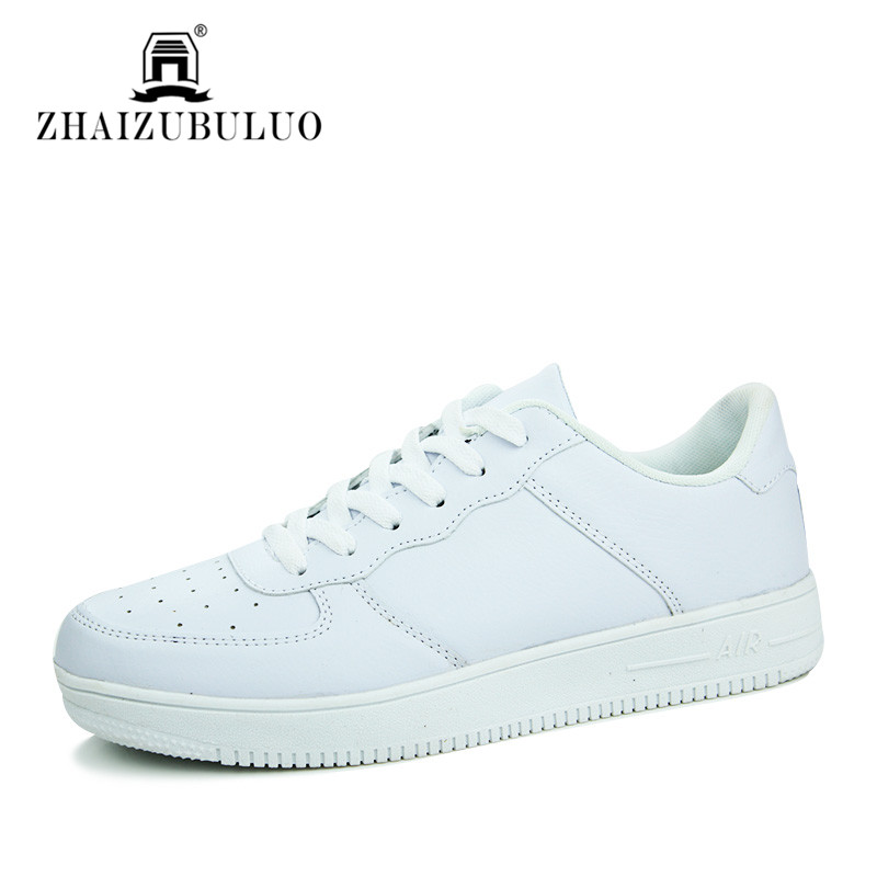 Luxury Brand Classic White Black Men Casual Shoes 2016 Spring Autumn Outdoor Walking Shoes Breathable PU Leather Casual Flats