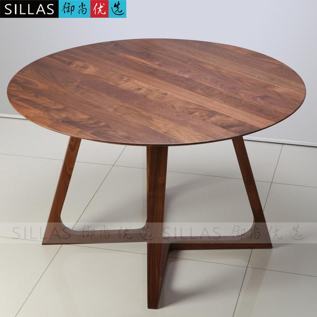 Muebles de nogal mesa de comedor de madera 1 2 metros for Mesas de comedor redondas extensibles de madera