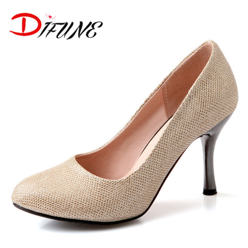 LArge size 31-47 Spring Shoes 2016 Wedding Fashion Discount Red Bottom thin High Heels Women Pumps for party pointed toe Shoes(China (Mainland))