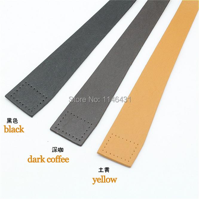 2 pairs black pu leather bag handles, dark coffee pu belt for sewing handbag,shoulder bag accessories,diy PU straps zp35(China (Mainland))