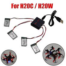 For Jjrc H20c Quadcopter Spare Parts 300mah 3.7v Battery With JJRC H20W Lipo Battery Accessories Drones 4in1 5 6 Kits