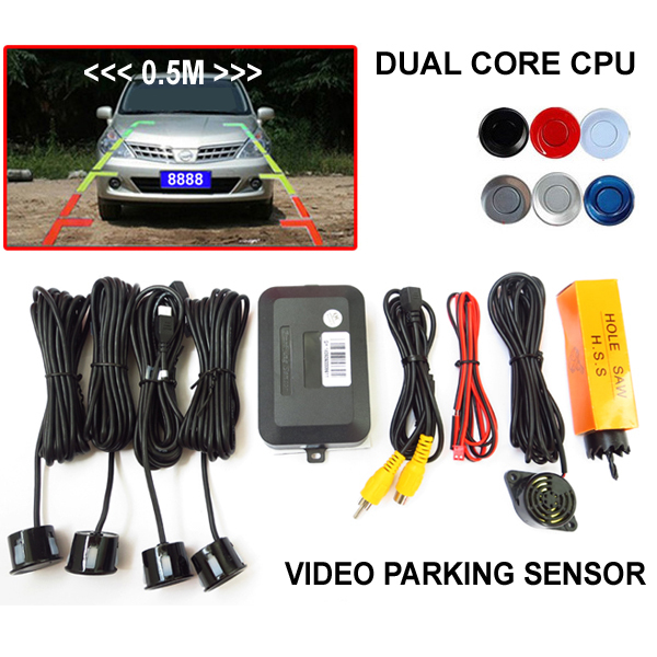 Wholesale New Dual Core Car Reverse Video Parking Assistance Sensor Radar System For Car DVD Monitor Rear View Camera(China (Mainland))