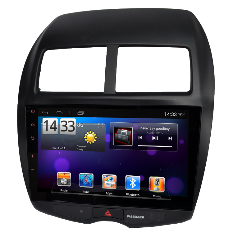 Pure Android 4.2.2 For ASX 2010 2011 Headunit GPS Navigation 10inch Car PC Multimedia dual Core WIFI 3G Bluetooth Free Map(China (Mainland))