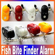 2014 Practical Electronic Fishing tools Fish Bite Finder Alarm LED Light Bell Clip Fishing Rod Russia preferential Free Shipping(China (Mainland))