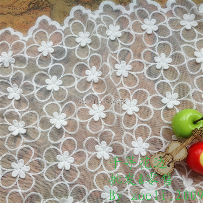 handmade clothing accessories material lace dynamic flowers paintings 130cm(China (Mainland))