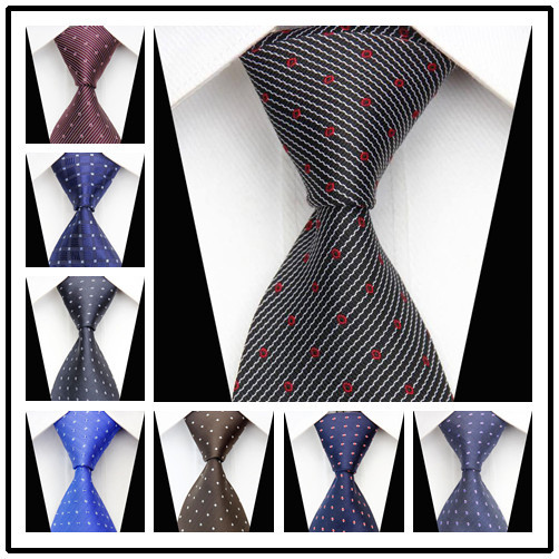 CON62 New Arrival 2014 New Fashion Classic Silk Woven Neck Tie Business Casual Knitted Mens Ties