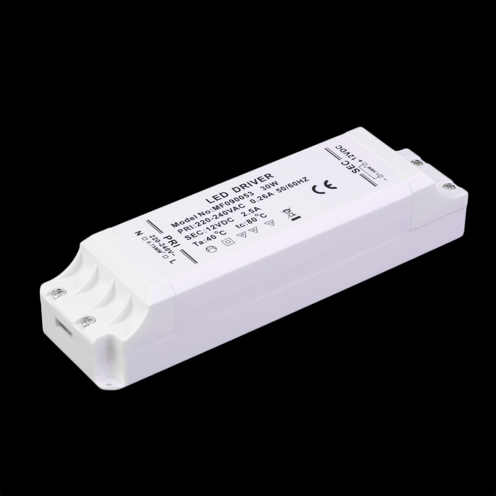 Гаджет  New 12V DC LED Supply Driver Transformer 30W for LED Lighting Strip Lights Wholesale None Свет и освещение