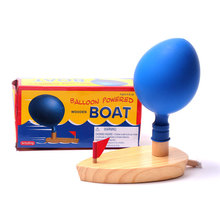 Schylling Baby Toys Balloon Powered Waterwheel Boat Classic Toys Fun Game Toy Wooden Bath Toys Gift(China (Mainland))