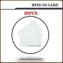 Buy 10Pcs/Lot White ID Card Chip Sticker RFID Door Lock Card 125KHZ RFID Card Access Control System timeclock SHARESHARE for $2.98 in AliExpress store
