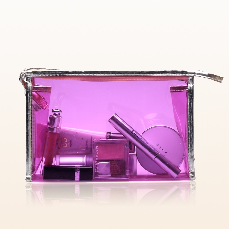 2016 New Female Korean Style PVC Transparent Cosmetic Bag Waterproof Large Capacity Storage Handbag(China (Mainland))
