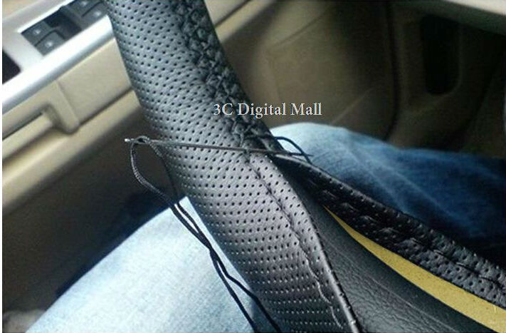 Sew-on Car Steering Wheel Cover Hole-Digging Breathable Slip-resistant, Handmade of Sew cover DIY Steering Wheel hubs Car Covers(China (Mainland))