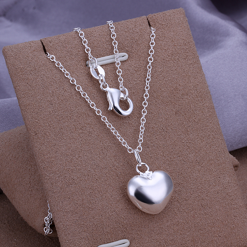 5stering silver plated pendant necklace WITHOUT CHAIN 925 stamped valentine gift women P301 - Tracy Jewelry store