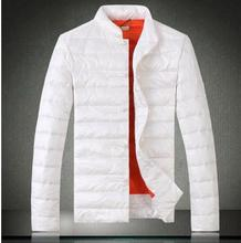 White black red blue stand collar thicken warm short down-jacket men coat duck down mens winter jackets and coats plus size 4XL