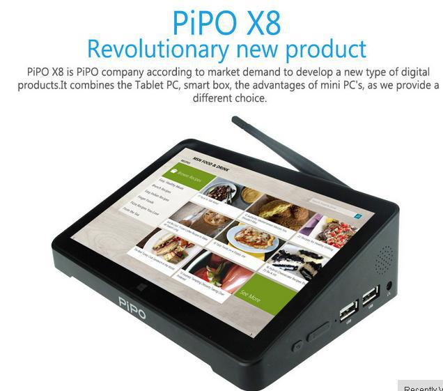 Original PIPO X8 Intel Z3736F Quad Core Dual Boot 7 INCH Tablet Mini PC HDMI 2G