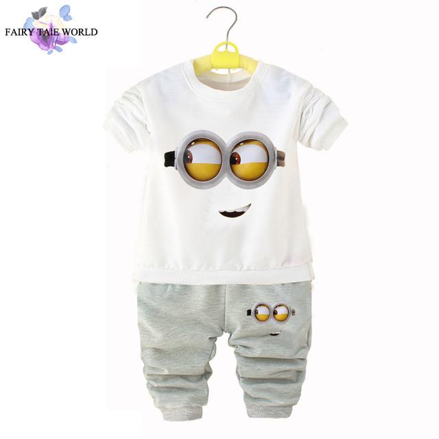 Гадкий я Миньоны дети одежда мальчиков одежда набор с длинным рукавом мультфильм ...