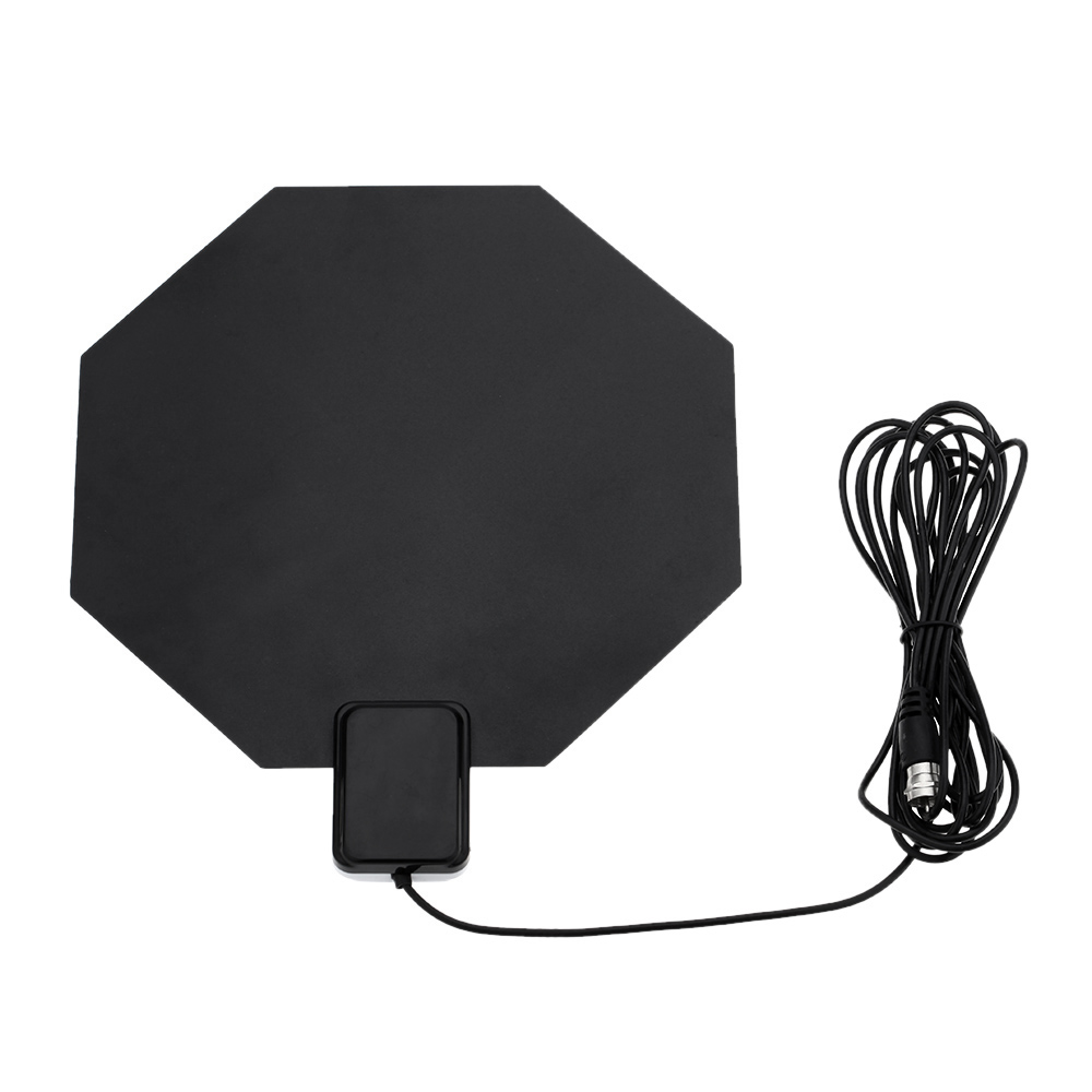 US Plug Flat Design Indoor TV HDTV DTV Antenna Support Receiving VHF UHF Signals/Free Digital/Analog Signals High Gain(China (Mainland))