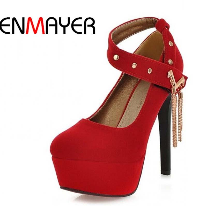 ENMAYER  2014 ladies Womens Pumps Sexy Vintage Bottom Platform High Heels Shoes womens wedding shoes size 34-43<br><br>Aliexpress