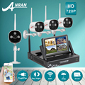 ANRAN Plug Play 7 LCD Screen 4CH Wireless NVR CCTV Kit 720P HD Outdoor Video Surveillance