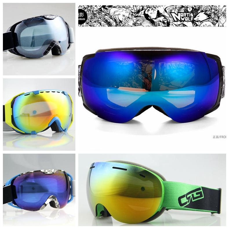 Free shipping CSG/Goggles 28 Kinds Frame Double Anti-fog Lens Ski Snowboard Goggles Fashion ski goggles Man Momen Ski glasses(China (Mainland))