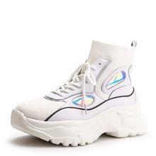 Prova perfetto Yüksek Top Platformu Ayakkabı Kadın Glitter Ayak Bileği Çorap Ayakkabı Kadın Unisex Baba Tıknaz Sneakers Zapatos De MuJjer(China)