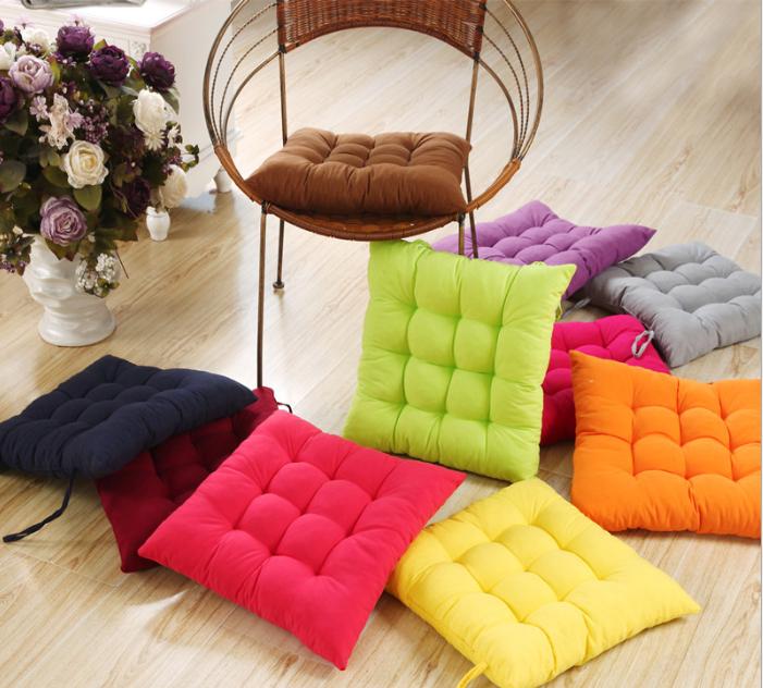 Free Shipping 40*40cm Chair Pad Cushion Pearl Cotton Colorful Chair Cusion Cushions Home Decor Cover Pillow Cover Plaid ZHT071(China (Mainland))