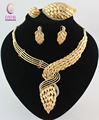 New Arrival African Costume Jewelry Sets 18K Gold Plated Crystal Wedding Women Bridal Accessories nigerian Necklace