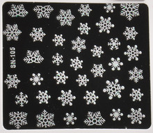 Christmas Snowflakes Design 3D Nail Art Stickers Decals For Nail Tips Decoration DIY Decorations Fashion Nail