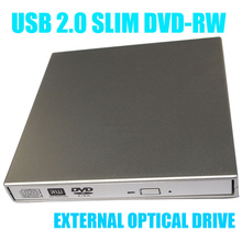 Top quality USB 2.0 Portable External Slim DVD-RW/CD-RW Burner Record Optical Drive SATA chip CD DVD Combo Writer(China (Mainland))
