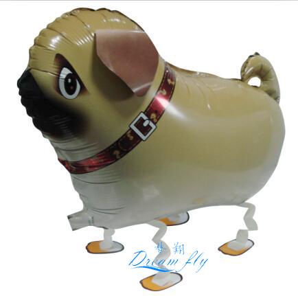 20pcs / lot Free shipping hot sell pug pet walking balloon animals pet balloon(China (Mainland))