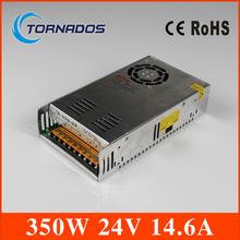 (s- 350- 24) รับประกันสองปีเอาท์พุทเดียวสลับแหล่งจ่ายไฟ24v350w14.6adiyสำหรับเครื่องcnc, นำ, ฯลฯของของจัดส่งฟรี