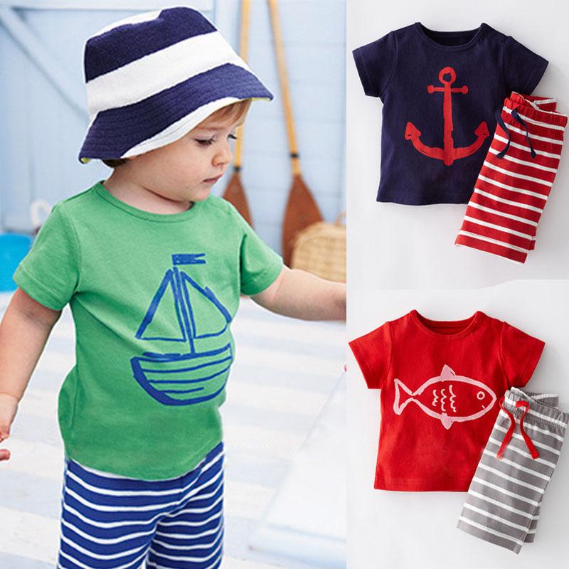2015 Sunshine Children Boys Character Clothing Sets Short-Sleeve Cotton T-Shirt + Striped Pant Boy Kids Summer Clothes Set CF101(China (Mainland))