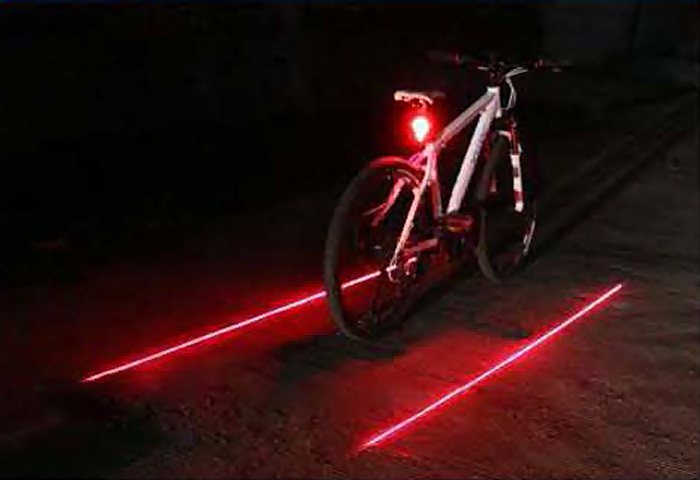 2015Latest LED Laser Bicycle Bike Rear Tail Width Light Flashing Strobe Warning Lamp Red Blue Green Three Colors Available - Shenzhen Prime Digital Company Ltd. store
