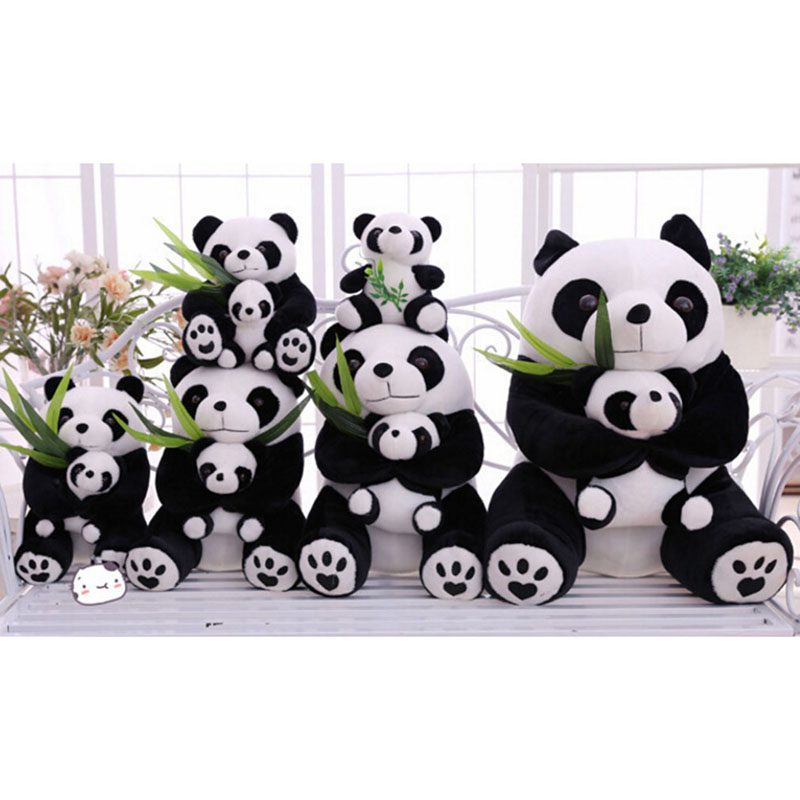 Animal Mascot 2016 Cute Lovely Kids Soft Cuddly Panda Gift Plush Toy Doll Halloween Party Props Craft Supplies Home Decoration(China (Mainland))