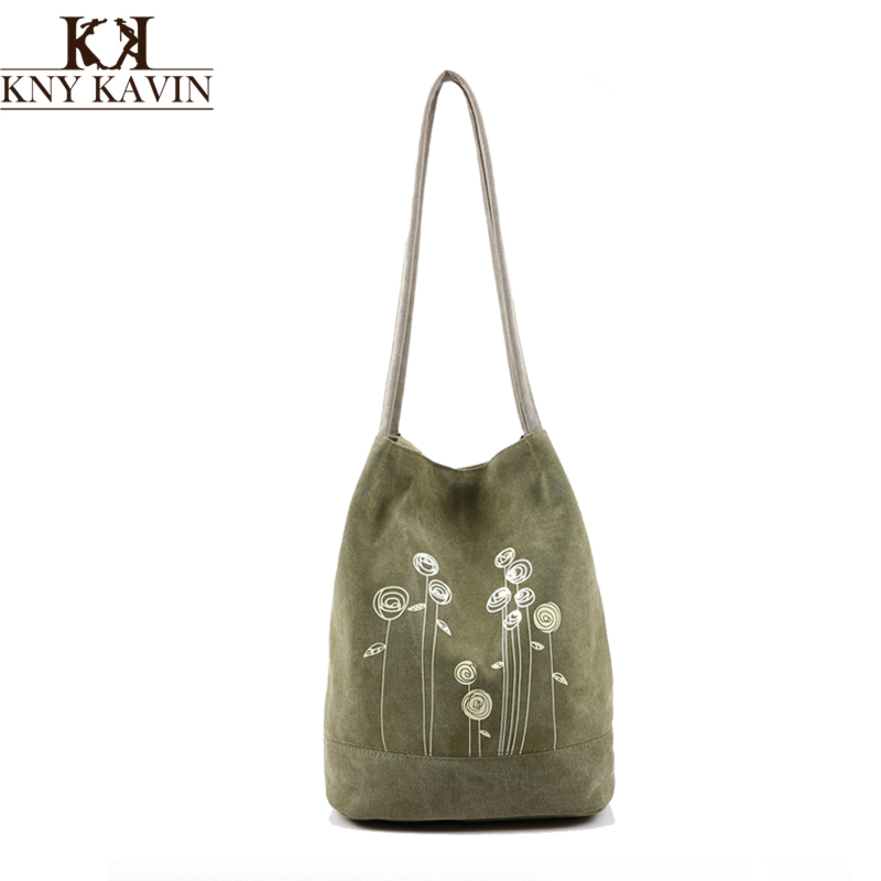Spring And Summer Shoulder Bag Canvas Women Handbags Bucket Ladies Hand Bags Casual Big Female Floral Tote Bag(China (Mainland))