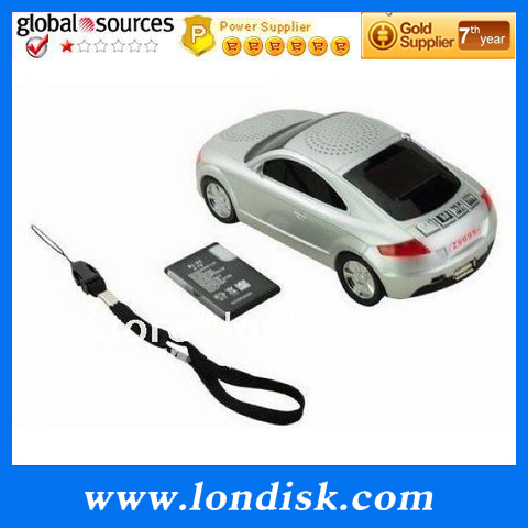 mini music car speaker A8 with screen support FM/USB Flash Drive/Micro SD card 5PC 10PC/Lot Free Shipping