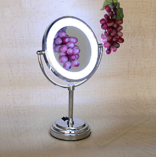 desktop makeup mirror with led light double faced fashion cosmetic mirror wingover large. Black Bedroom Furniture Sets. Home Design Ideas