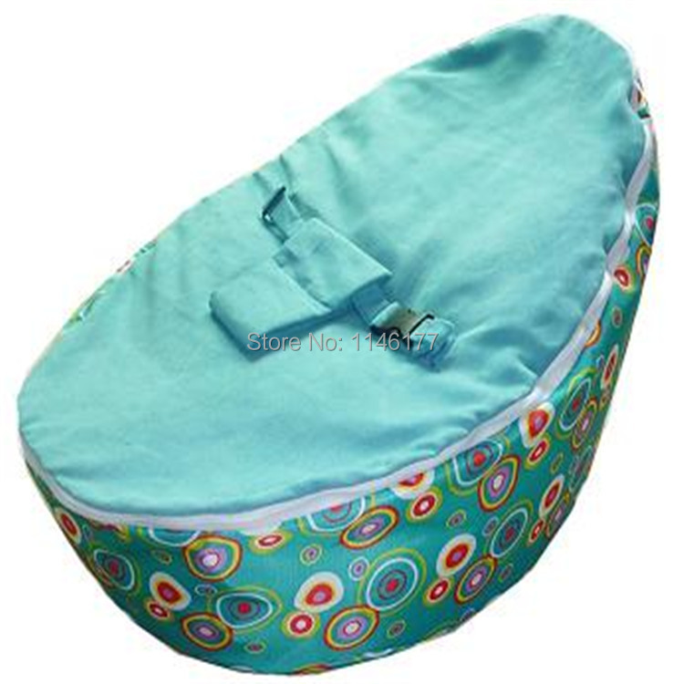 2015 Pouf Sale New Baby Furniture Chair For Feeding Ywxuege New! Blue Dots 2 Layers Comfotable Beanbag Portable Sofa(China (Mainland))