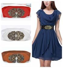 2014 new Fashion Accessories Alloy fllower leather belt  women vintage Girdle belts  for women