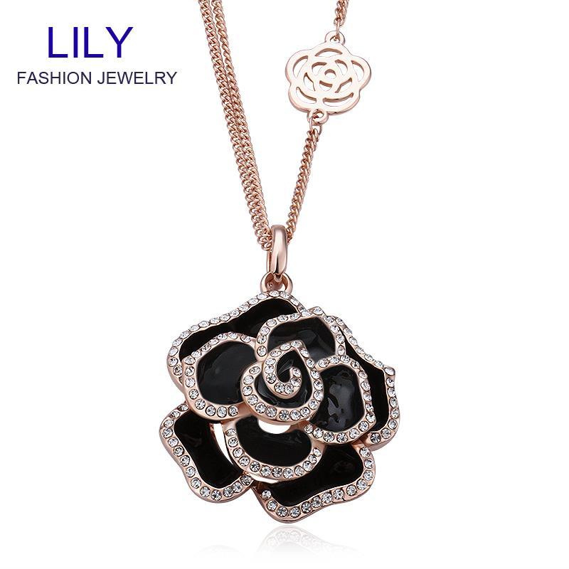 M014 Designer Jewerly Women 2014 Big Necklace 18k Gold Jewelry Flower Necklaces Pendants