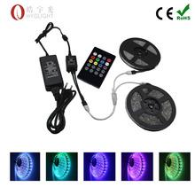 led RGB strip light 5050 smd 600led 10M RGB led rope + Music  remote controller + DC 12V 6A Power Supply(China (Mainland))