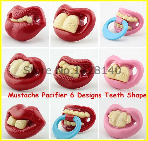 10pcs/lot(10 designs) Funny Novelty Dummy Dummies Pacifiers Baby Joke Maternity Toddler Child Teething 10 design(China (Mainland))