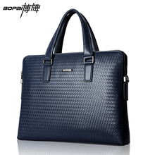 2015 Casual Leather Briefcase Men Cowhide Genuine Leather Bag Fashion Men Messenger Bag Famous Brand leather laptop bag maleta(China (Mainland))
